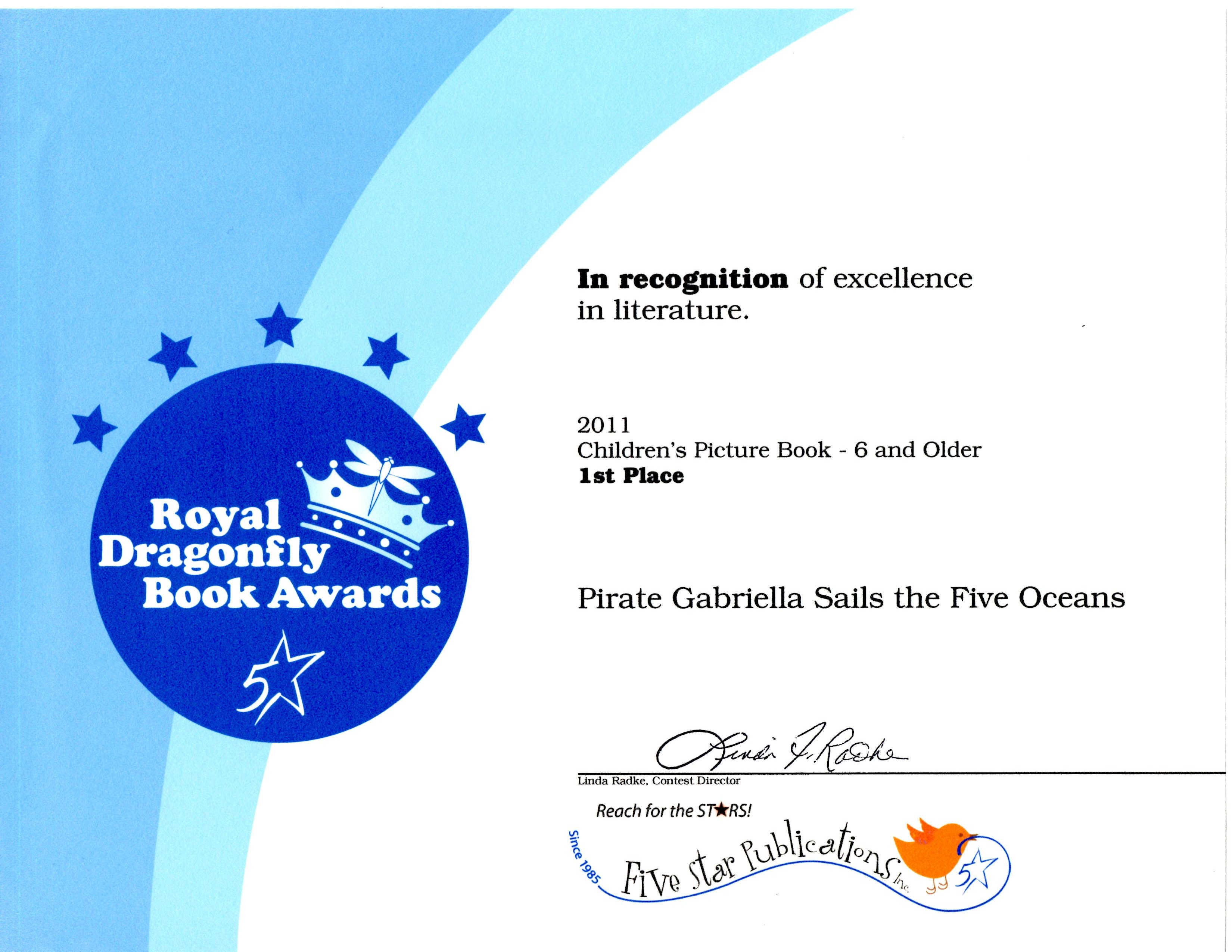 Royal Dragonfly Book Awards