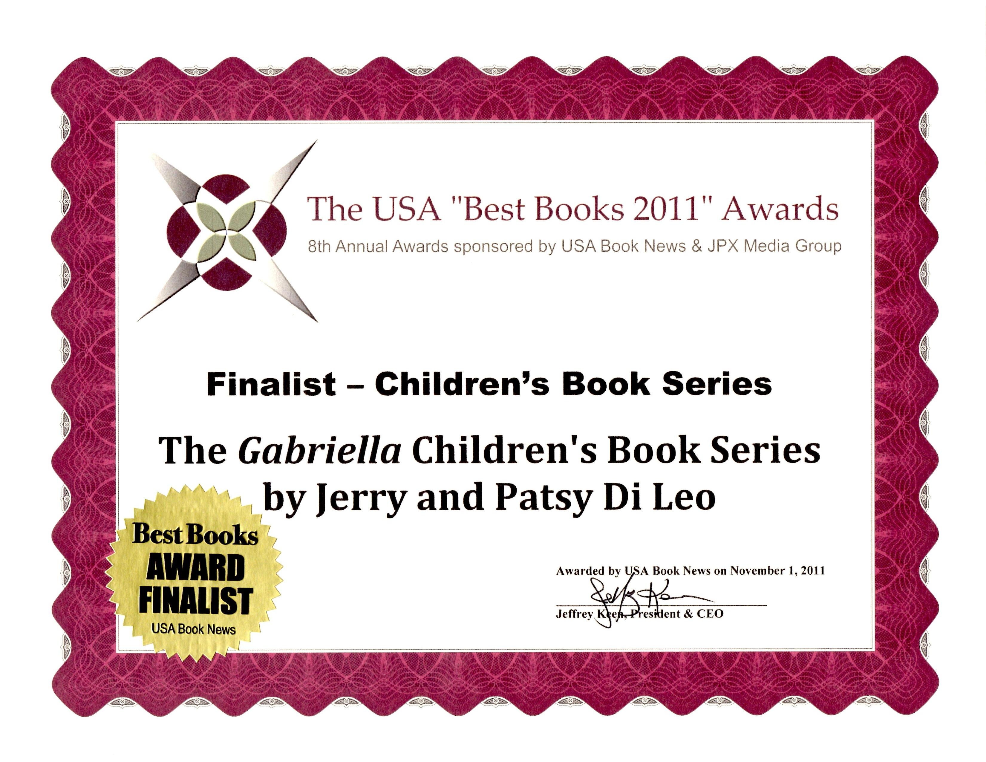 "USA ""Best Books 2011"" Awards"